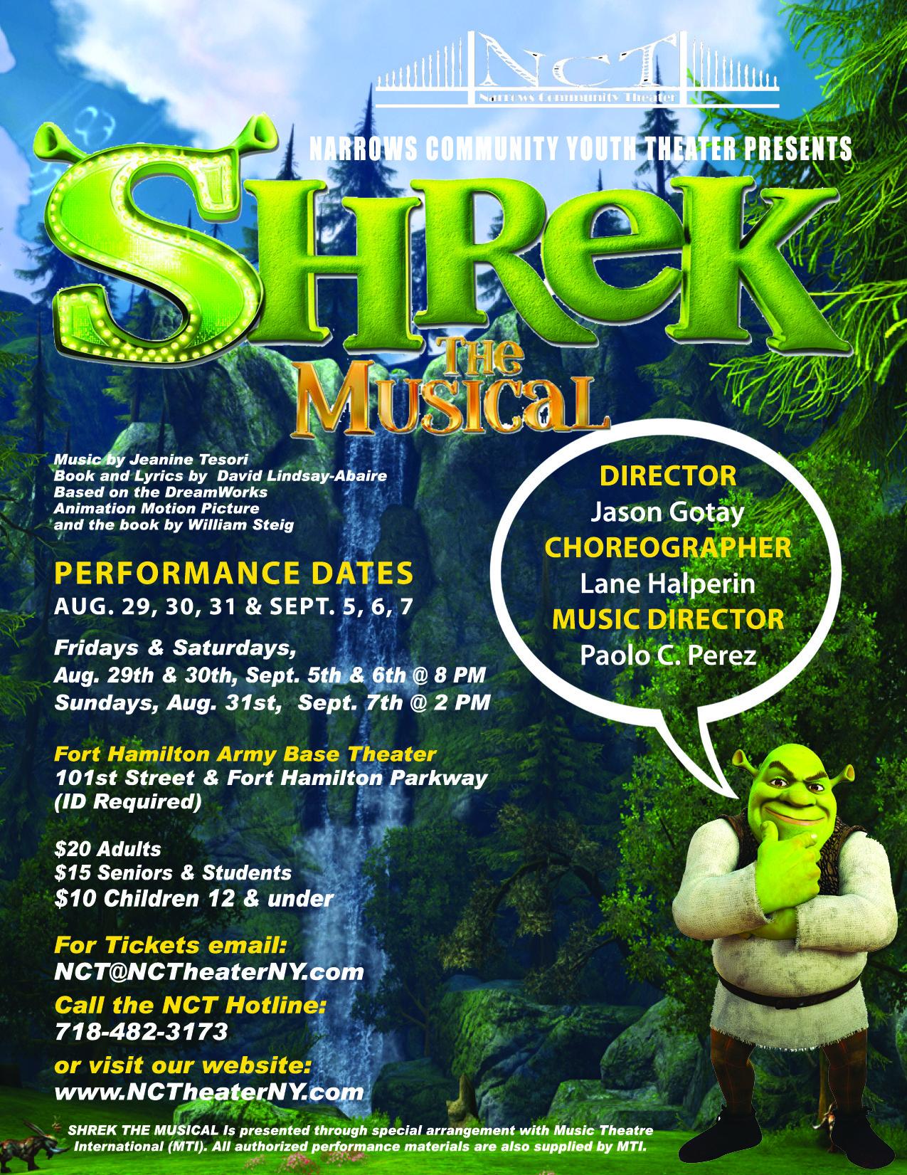 SHREK Flyer outlines