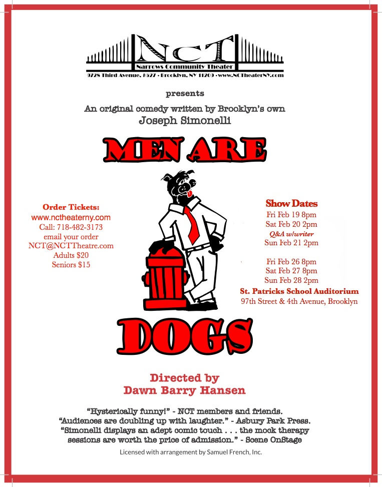 Men Are Dogs Cast Flier