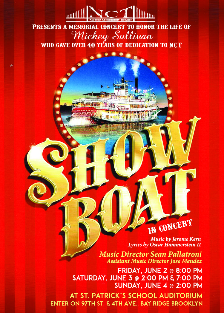 Showboat Post card OUTLINES front